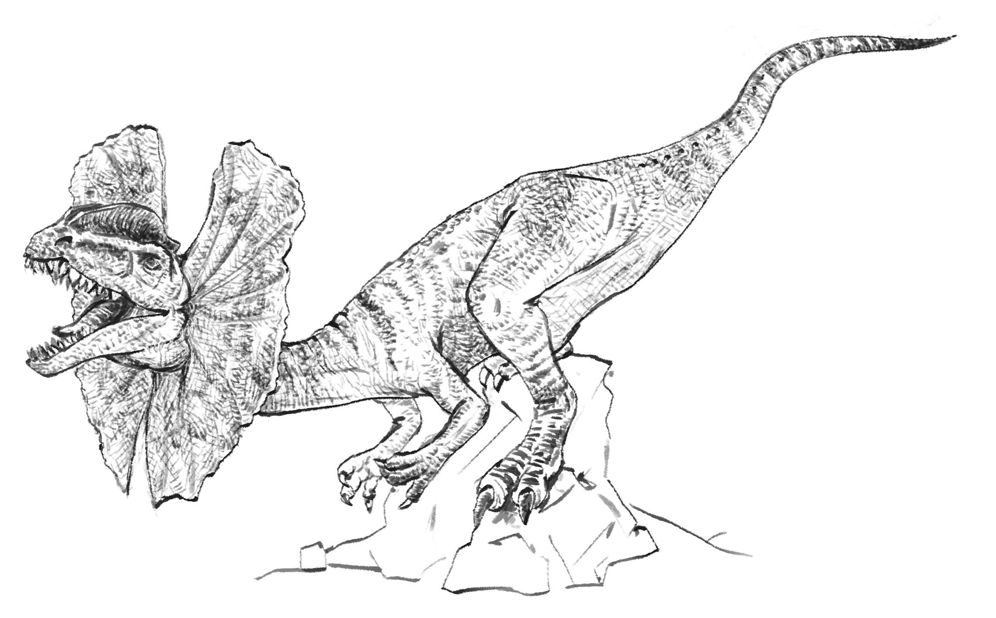 Dilophosaurus scoala discovery for Dilophosaurus coloring page